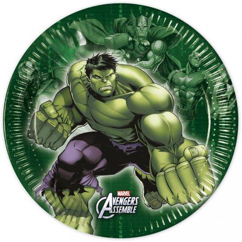 8 Petites Assiettes Avengers Rassemblement