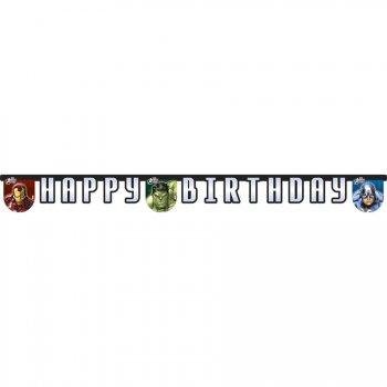 Guirlande lettres Happy Birthday Avengers Rassemblement