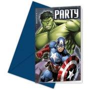 6 Invitations Avengers Rassemblement