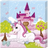20 Serviettes Licorne Enchant�e