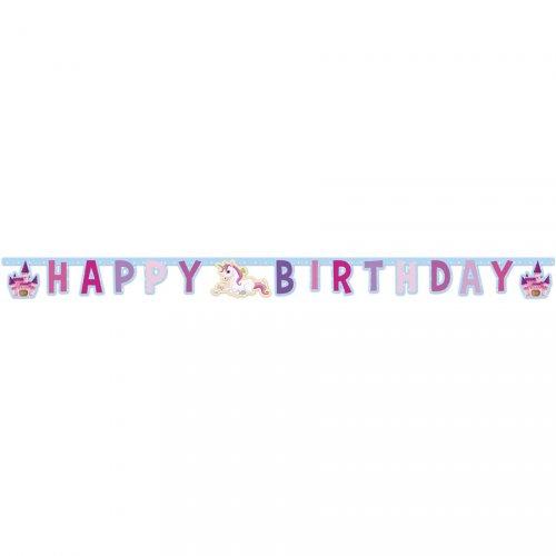 Guirlande lettres Happy Birthday Licorne Enchantée