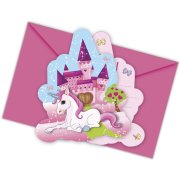 6 Invitations Licorne Enchant�e
