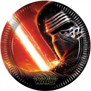 8 Assiettes Star Wars - Le Réveil de la Force