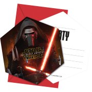 6 Invitations Star Wars - Le R�veil de la Force