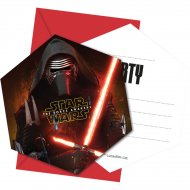 6 Invitations Star Wars - Le Réveil de la Force