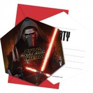 6 Invitations Star Wars - Le Réveil de la Force