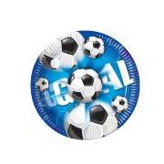 10 Petites assiettes Goal Bleu