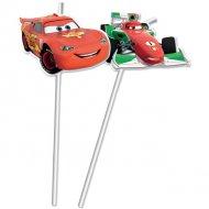 6 Pailles Médaillon Cars Ice