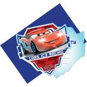 6 Invitations Cars Ice