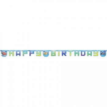 Guirlande lettres Happy Birthday Cars Ice