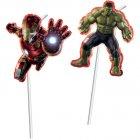 6 Pailles Médaillon Avengers