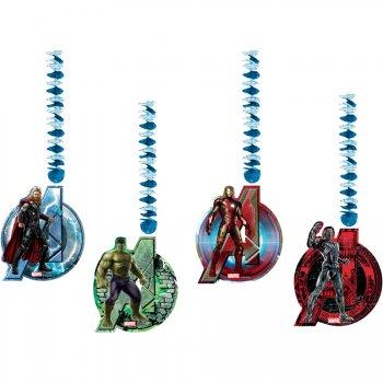 4 Décorations à Suspendre Avengers 2 Ultron
