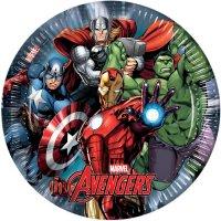 Contient : 1 x 8 Assiettes Avengers Power