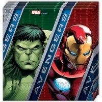 Contient : 1 x 20 Serviettes Avengers Power