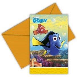 6 Invitations Le monde de Dory