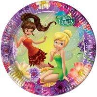 Contient : 1 x 8 Assiettes Fairies Magic