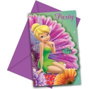 6 Invitations Fairies Magic