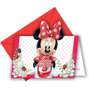 6 Invitations Minnie Frutti