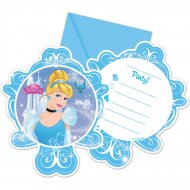 6 Invitations Cendrillon 2