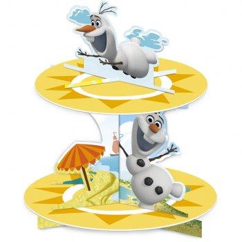Présentoir à Cupcakes Olaf en été