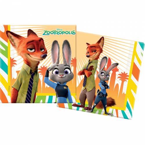 20 Serviettes Zootopie