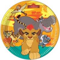 Contient : 1 x 8 Assiettes La garde du Roi Lion