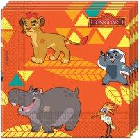 Contient : 1 x 20 Serviettes La garde du Roi Lion