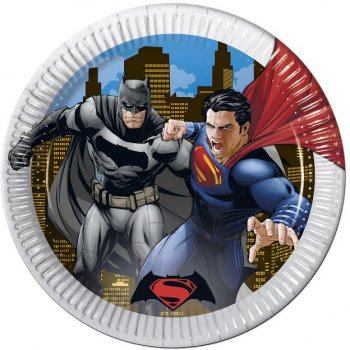 8 Assiettes Batman vs Superman