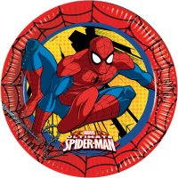 Contient : 1 x 8 Assiettes Ultimate Spiderman Power