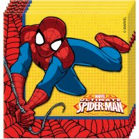 Contient : 1 x 20 Serviettes Ultimate Spiderman Power
