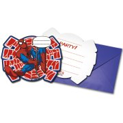 6 Invitations Ultimate Spiderman Power