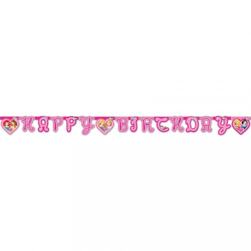 Guirlande lettres Happy Birthday Princesses Disney Dreaming
