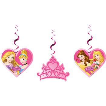 3 Décorations à Suspendre Princesses Disney Dreaming