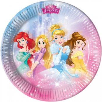 8 Assiettes Princesses Disney Charming