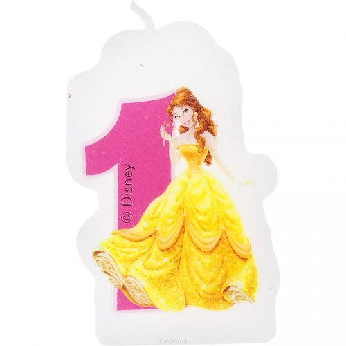 Bougie chiffre 1 Princesses Disney