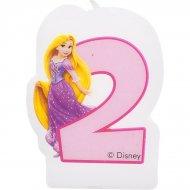 Bougie chiffre 2 Princesses Disney