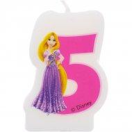Bougie chiffre 5 Princesses Disney