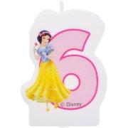 Bougie Chiffre 6 Princesses Disney
