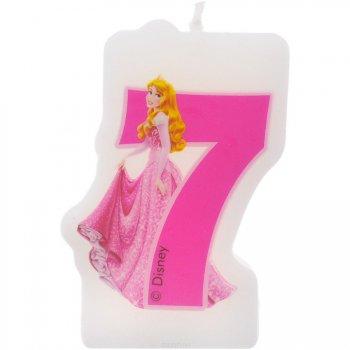 Bougie chiffre 7 Princesses Disney