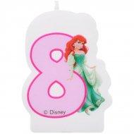 Bougie chiffre 8 Princesses Disney