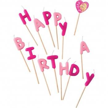 Bougies Lettres Happy Birthday Barbie