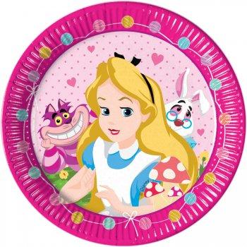 8 Assiettes Alice Merveille Rose