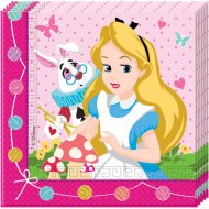 20 Serviettes Alice Merveille Rose
