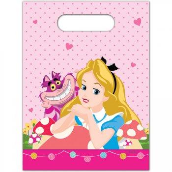 6 Pochettes Cadeaux Alice Merveille Rose