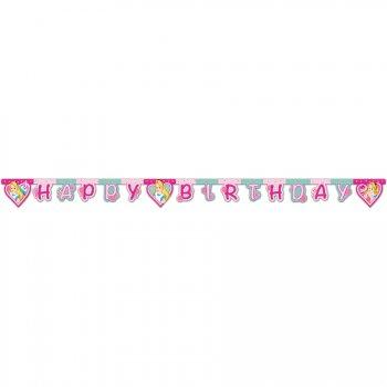 Guirlande lettres Happy Birthday Alice Merveille Rose