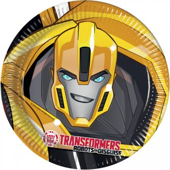 8 Assiettes Transformers Robots in Disguise