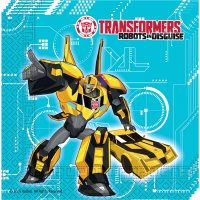 Contient : 1 x 20 Serviettes Transformers Robots in Disguise