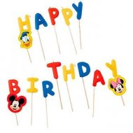 14 Mini Bougies Happy Birthday Mickey