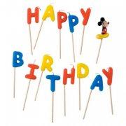 14 Mini Bougies Happy Birthday Mickey