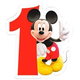 Bougie chiffre 1 Club Mickey